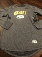 New Nike Mens Michigan Wolverines Long sleeve Shirt Size Large