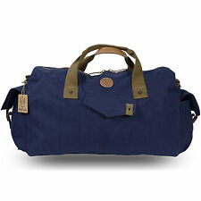 Rakuda Duffle Rucksack Luggage Travel Gym Bag Canvas Washed Leather 19x12x6 Navy
