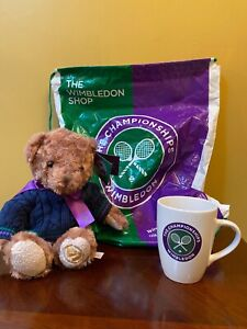 Teddy Bear and Mug and Bag From the Wimbledon Shop Collectable
