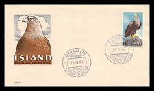 Iceland 1966 FDC, Sea-Eagle. Lot # 4.