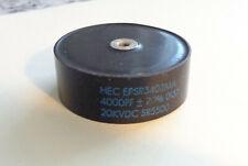 Qnty 2 High Energy Corp High Voltage Doorknob Capacitors 4000pf 20 Kv