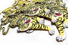 Tiger iron on embroidered patch Vintage/blogger/DIY/90s denim jacket accessory