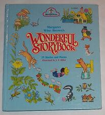 VTG Margaret Wise Brown's Wonderful Storybook Hardcover Book 25 Stories & Poems