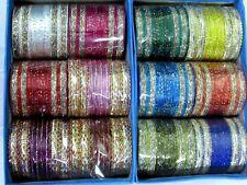 288 Bollywood Indian Belly Dance Metal Bangles Bracelet 12 Set Mix Colors 2.8