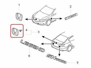 "[NEW] JDM Honda LEGEND KC2 Emblem Rear ""H"" Genuine OEM Acura RLX"