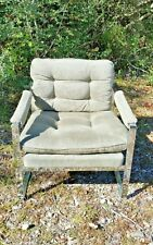 Mid-Century Modern Milo Baughman Chrome Accent Chair Hollywood Regency