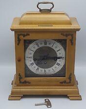 HAMILTON WESTMINSTER CHIME BRACKET MANTLE CLOCK W/KEY- 340-020 W. GERMANY NM