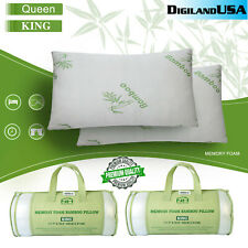 Bamboo Shredded Memory Foam Pillow with Hypoallergenic Cover Queen/King Size