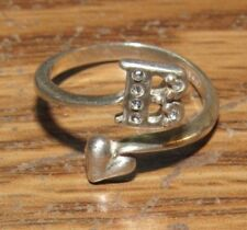 Vintage B Initial Avon Sterling Silver Ring - Size 6.5 - #1