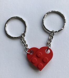 Genuine Lego Heart Keyrings Back To School Favours 1 For Parent 1 For Child