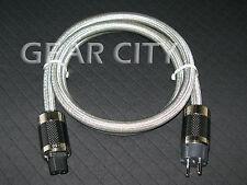 cps9e 1.5m 5ft 16mm EU Mains Power Silver Cable Schuko Carbon Fiber Plug HiFi