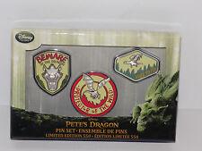 Disney Store Pete's Dragon Pin Set Limited Edition 550 LE