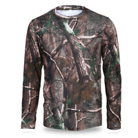 Hunting Mens Camo Tree Camouflage T-Shirt Long Sleeve Quick Drying Clothes MT