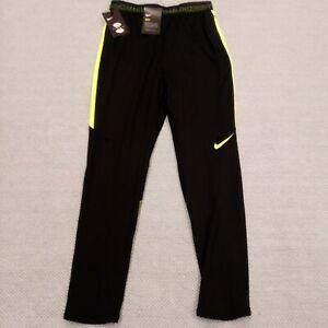 NIKE Dry Strike Big Unisex Youth Soccer Pants Black Yellow pockets 842572 016 XL