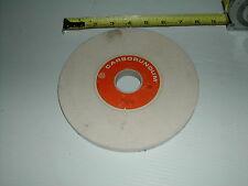 Carborundum 7 x 1/2 x 1 1/4 White Grinding Wheel AA60-H8-V40 New old stock