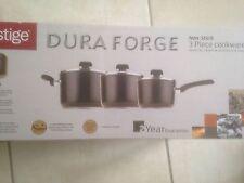 Prestige Dura Forge 3 Piece Pan Set - Black.