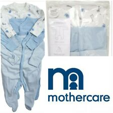 Brand New Authentic Mothercare 3 Pack Baby Boys Sleepsuits Babygrows Nightwear