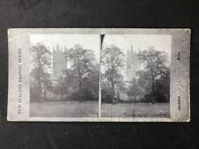 Stereo-View Stereoscopic Photo: New Zealand Graphic #A6: Canterbury Cathedral