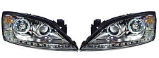 LHD CHROME PROJECTOR HEADLIGHTS LED ANGEL EYE DRL FORD MONDEO MK3 00-07