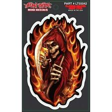 LETHAL THREAT STICKER MOTORCYCLE SCOOTER HELMET BOARD CAR FLAMING SKULL LT55042
