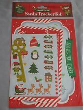 CHRISTMAS EVE SANTA TRACKER KIT MAP KEY ELF STICKERS SANTAS PLATE PRESENT GIFT