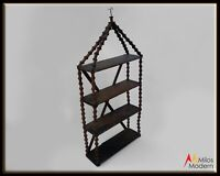 Antique Rustic Folk Art Wooden Spool Shelves Shelf American Late 19th Century