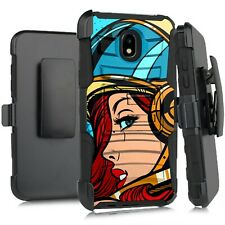 New listing Holster Case For Lg Journey/Arena 2/Escape Plus Phone Cover Space Girl