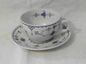Vintage Furnivals Denmark blue & white cup and saucer
