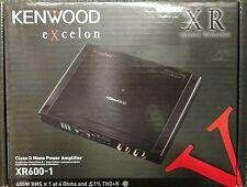 Kenwood Excelon XR600-1 Class D 600 Watts RMS Mono Channel Car Amplifier