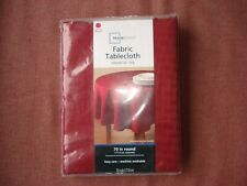 """Fabric Tablecloth Red Sedona  70"""" in Round / Brand NEW & Sealed"""
