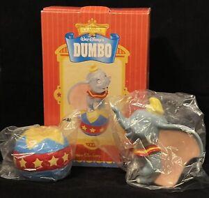 Disney Dumbo Ceramic Salt and Pepper Shaker Set Treasure Craft SAME DAY SHIPPING