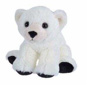 CUDDLEKINS MINI POLAR BEAR PLUSH SOFT TOY 20CM STUFFED ANIMAL WILD REPUBLIC