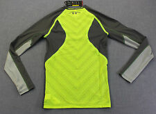 Under Armour Football Mens Gray Yellow Army of 11 Compression Ls Shirt Nwt M $80