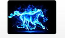 Apple Macbook 11in AIR Blue Flaming Horse vinyl decal skin sticker laptop mac