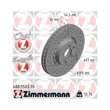 2 Bremsscheibe ZIMMERMANN 400.5503.70 FORMULA Z COAT Z passend für