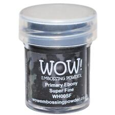 WOW Embossing Powder Super Fine 15ml-primary Ebony