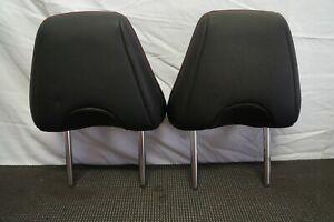 2013-2017 SCION FR-S SUBARU BRZ OEM FRONT SEAT HEADRESTS HEAD REST BLACK LEATHER