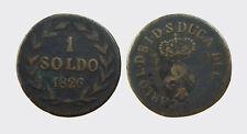 LUCCA - CARLO LUDOVICO BORBONE 1824-1847 -AE/ 1 SOLDO 1826