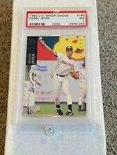 1994 U.D. Minor League #185 - DEREK JETER RC - PSA 7 NM - Upper Deck / ROOKIE