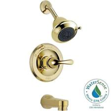 Delta Classic Single-Handle 3-Spray Tub and Shower Faucet in Polished Brass