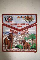 OA WULAPEJU 140 BLACKHAWK AREA 2-PATCH MAMMOTH 100TH ANN 2015 NOAC FLAP 500 MADE