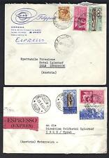 EUROPE 1930's 60's COLLECTION OF 20 COMMERCIAL COVERS INCLUDES REGISTRATION &