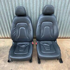 Audi A4 B8 8K Sedan Front Seats Black 08 09 10 11 12