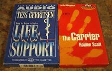 Tess Gerritsen LIFE SUPPORT Holden Scott THE CARRIER Abridged Audiobook Cassette