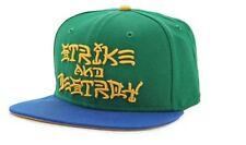 Nike Strike & Destroy Snapback Skateboard Cap Hap FlatBrim Green Blue 623853-302