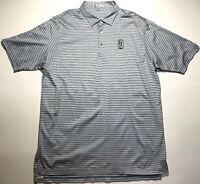 PETER MILLAR Mens Blue Striped Short Sleeve Golf Polo Shirt X-Large XL