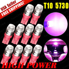10 x NEW Pink T10 Wedge High Power 1W LED Light Bulbs 192 168 194 US