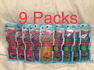 Glitter Soap Bubbles To Go Lot of 9 Plastic Packs 4 oz No Bottles with Wands