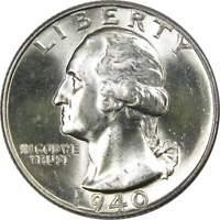 1940 25c Washington Silver Quarter US Coin Choice Uncirculated Mint State