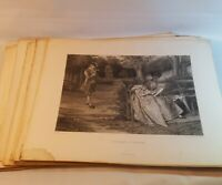 Antique Etching Art Gebbie & Barrie Prints 1800s Treasures of England 30 Pieces